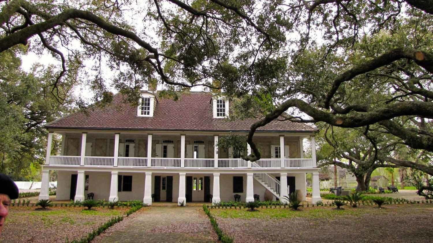 Plantation house and front yard
