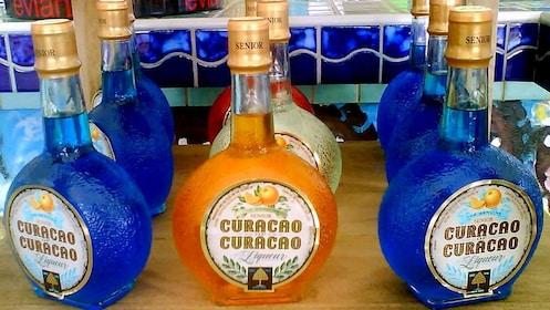 Bottles od liquor in Curacao