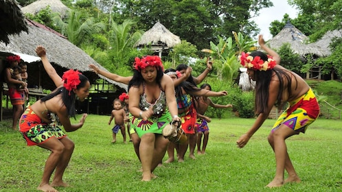 Embera Indians performing a cultural dance