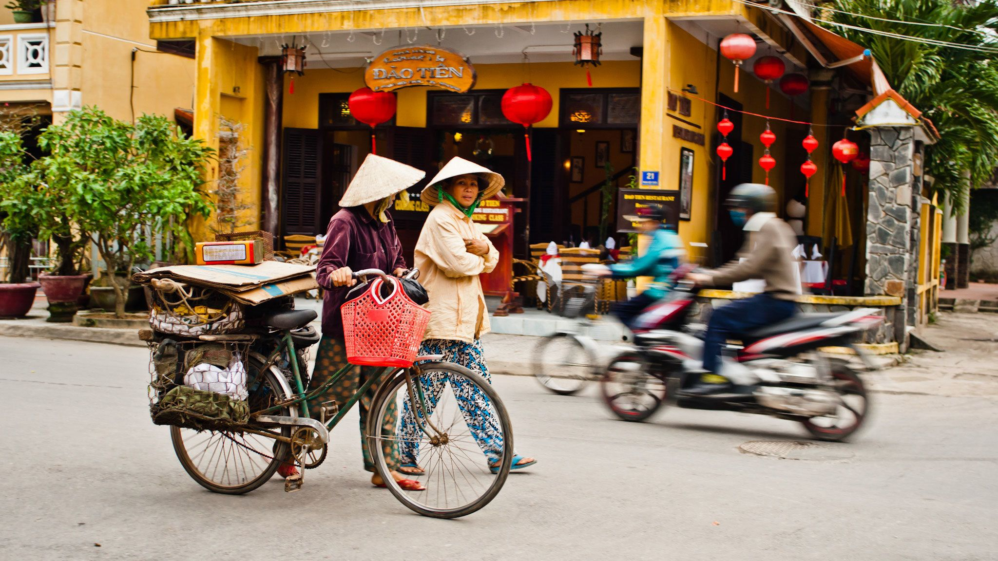 bikes on city street