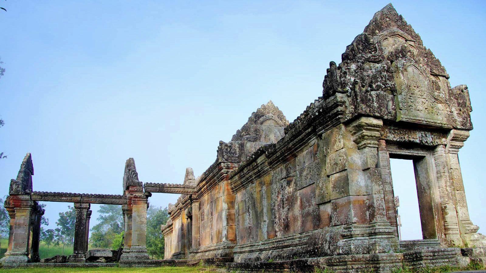 historical ruins at temple