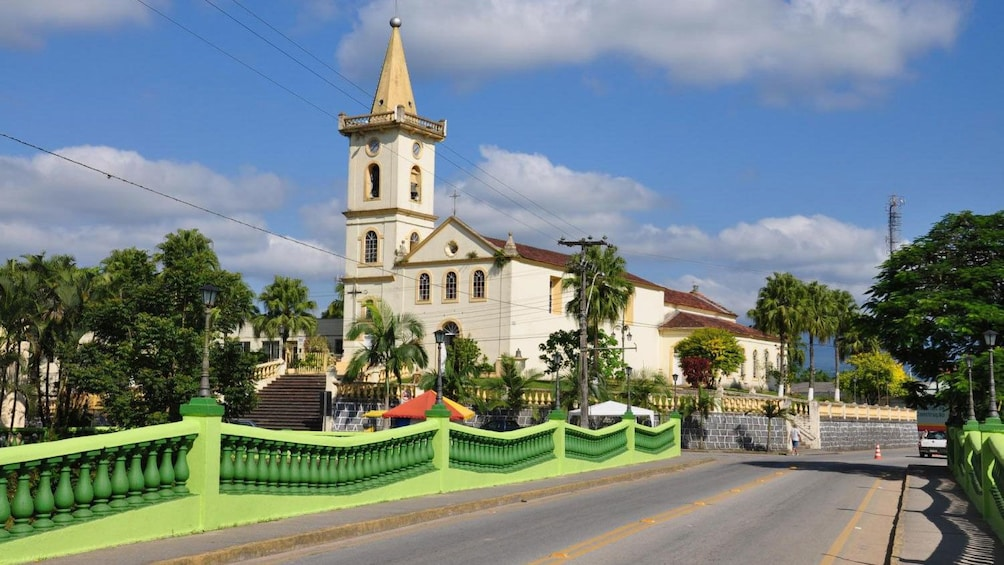 Historic church in the town of Morretes, Brazil