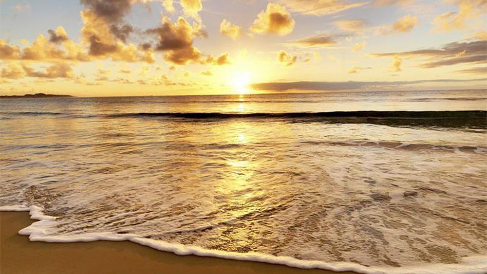 Stunning sunset view of the Northern Coast Beaches in Joao Pessoa