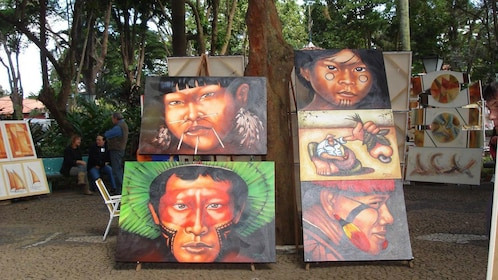 Paintings by local artists for sale in Sao Paulo