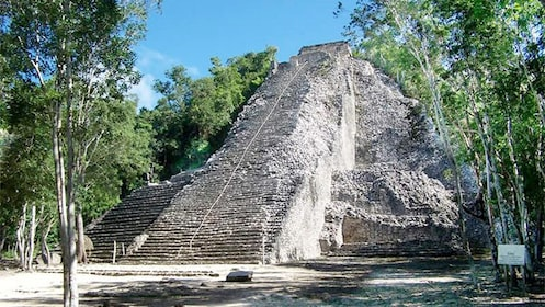 The highest pyramid in the Yucatan Peninsula