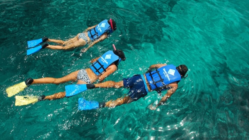 Trio out snorkeling in Punta Cana