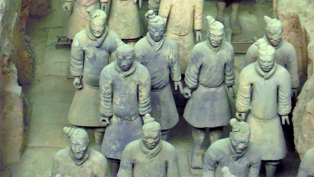 Show item 5 of 5. clay soldiers in Xian