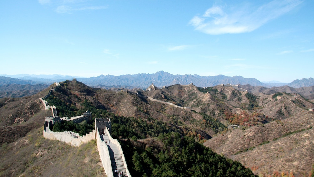 Show item 1 of 5. aerial view of great wall of china