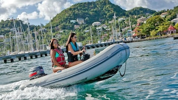 Captain Your Own Motorboat for a Day at Grand Anse Bay