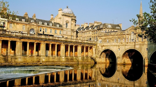 historic building and bridge at Bath in London