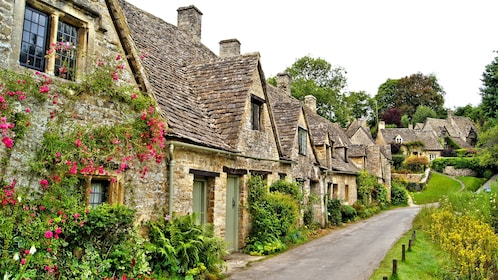row of houses in UK