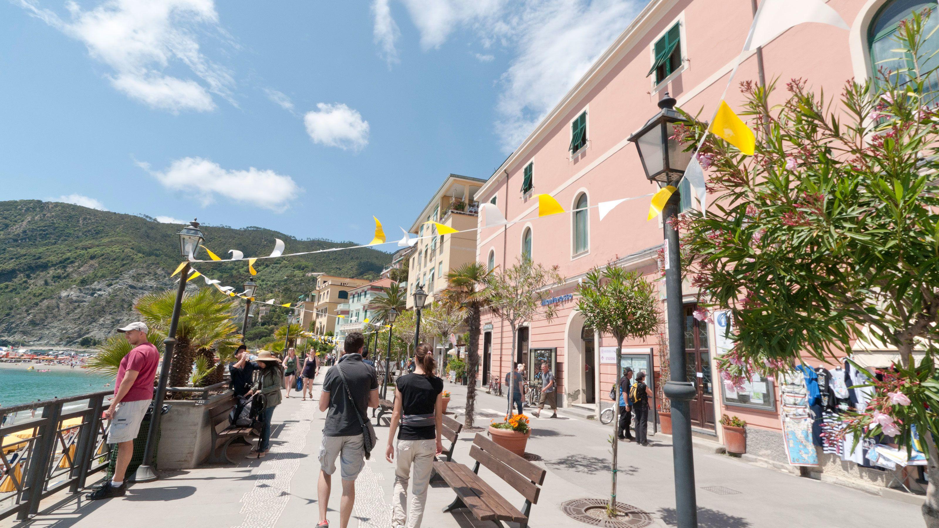 Italian waterfront and boardwalk