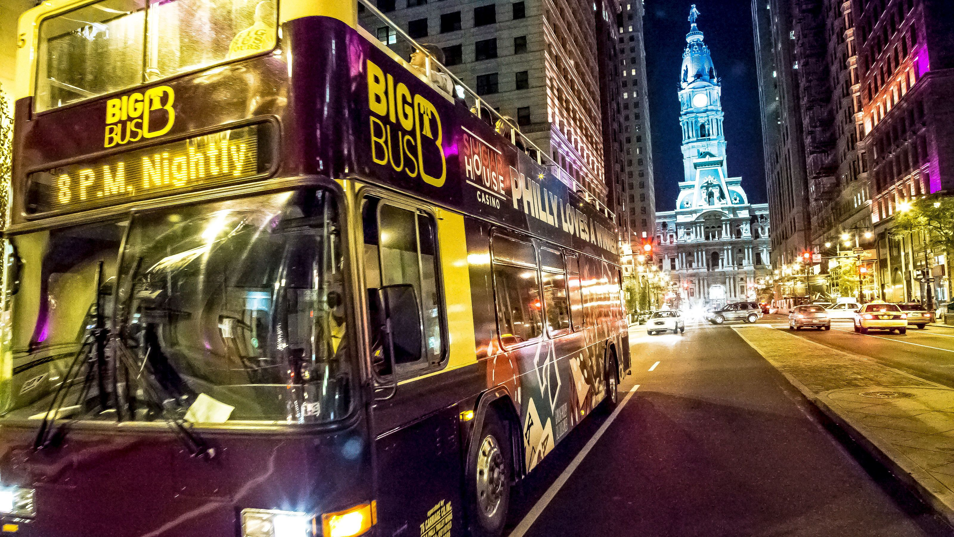 Philly by Night Double-Decker Bus Tour