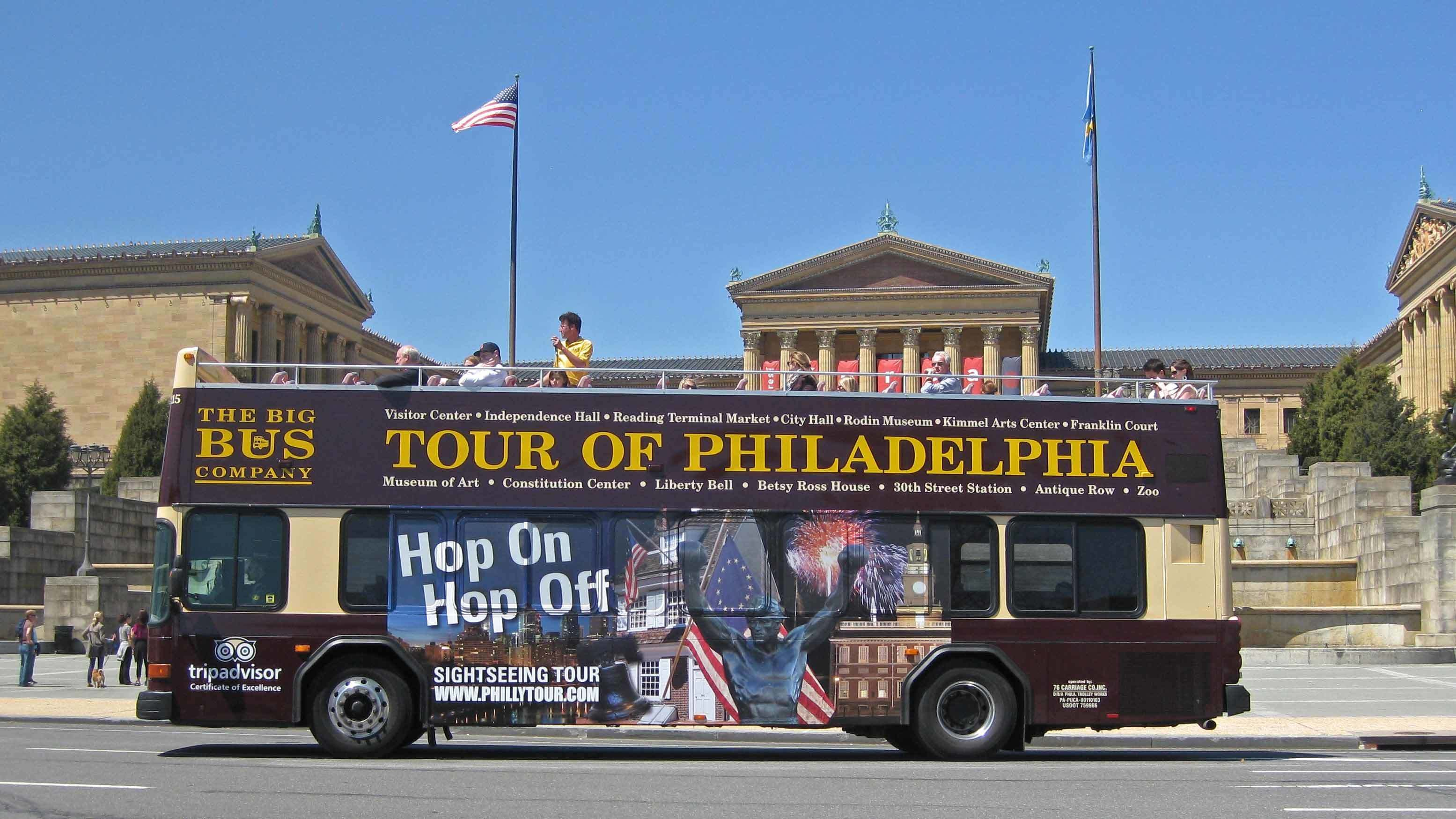 Tour bus in Philadelphia