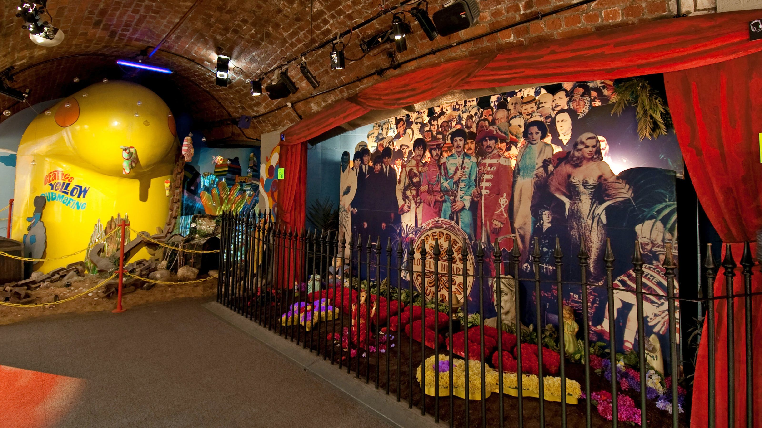 View of Liverpool Beatles tour in London