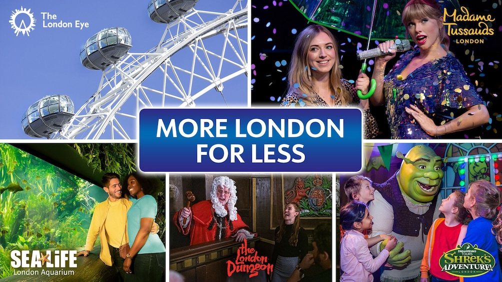 Öppna foto 1 av 10. Merlin's Magical London Pass: 5 Attractions inc. London Eye, Madame Tussauds & SEA LIFE