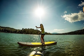 Stand Up Paddling at Aoos Spring Lake in Metsovo