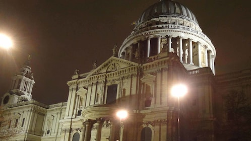 Building at night in London