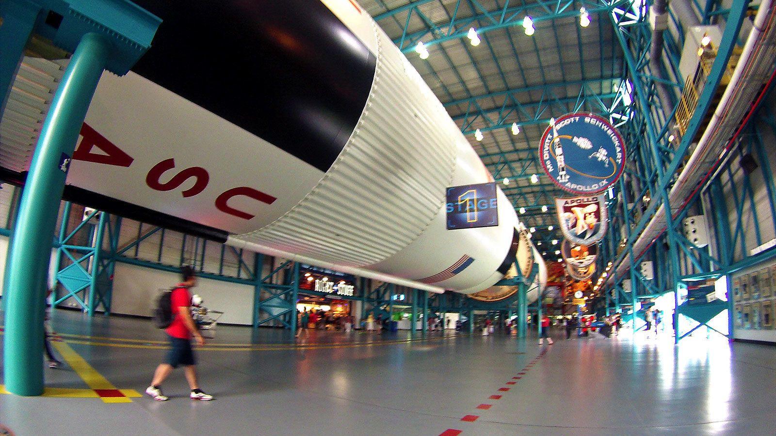 rocket replica at the center in Miami