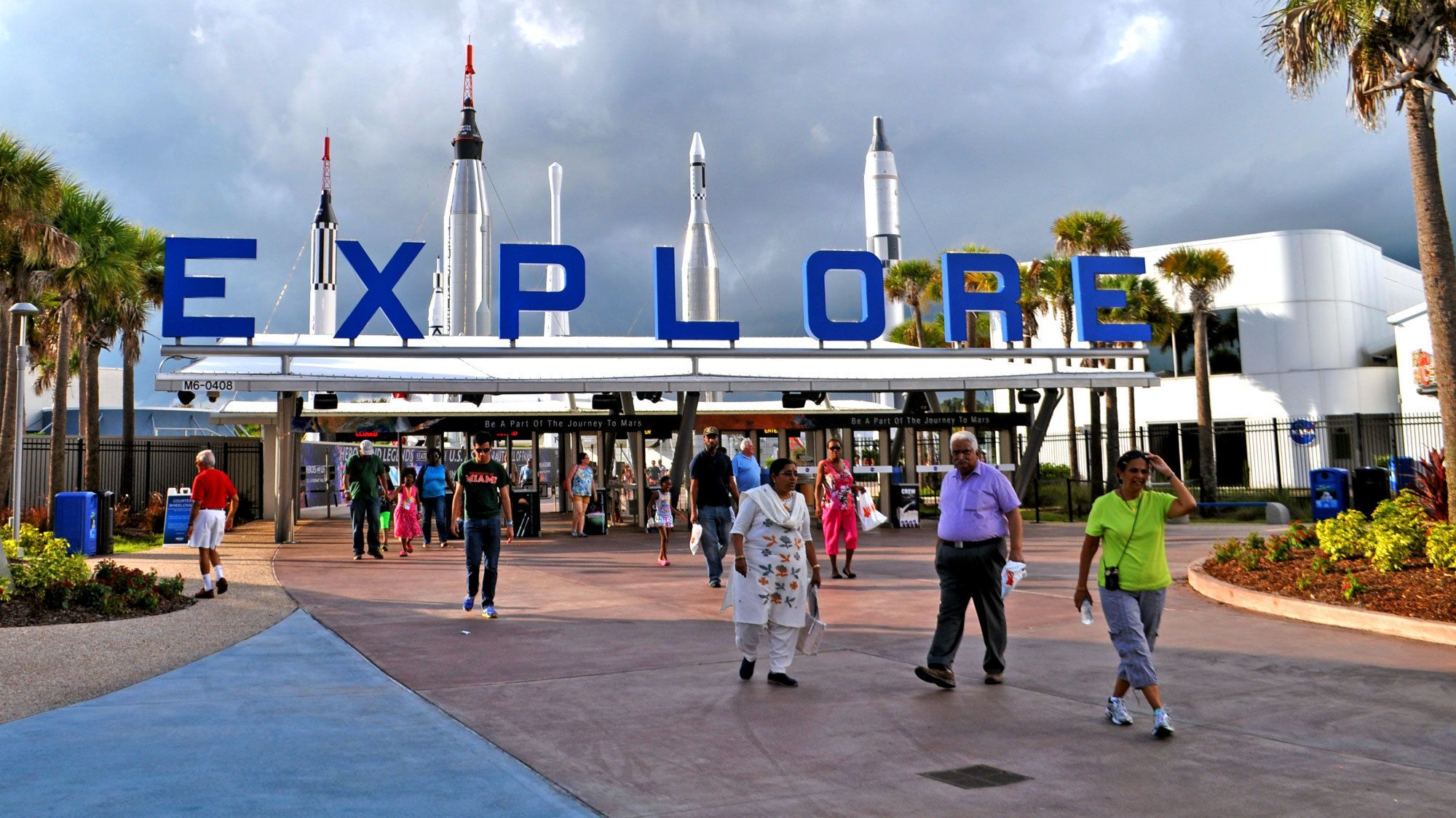 entrance to the space center in Miami