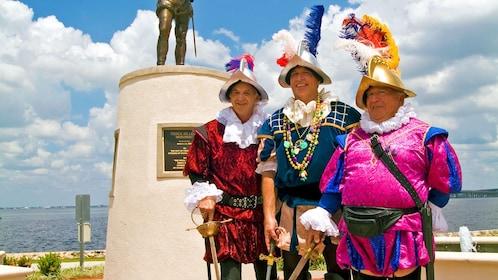 men dressed as musketeers in Miami