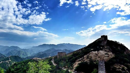 Beautiful panoramic view of the Great Wall in Beijing
