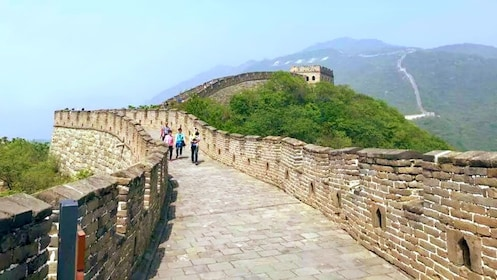 Guests visiting the Great Wall in Beijing