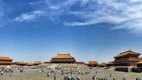 Panoramic view of Tiananmen Square in Beijing