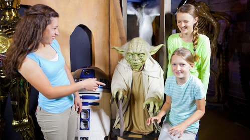 Yoda and R2-D2 from Star Wars at Potter's Wax Museum in St. Augustine