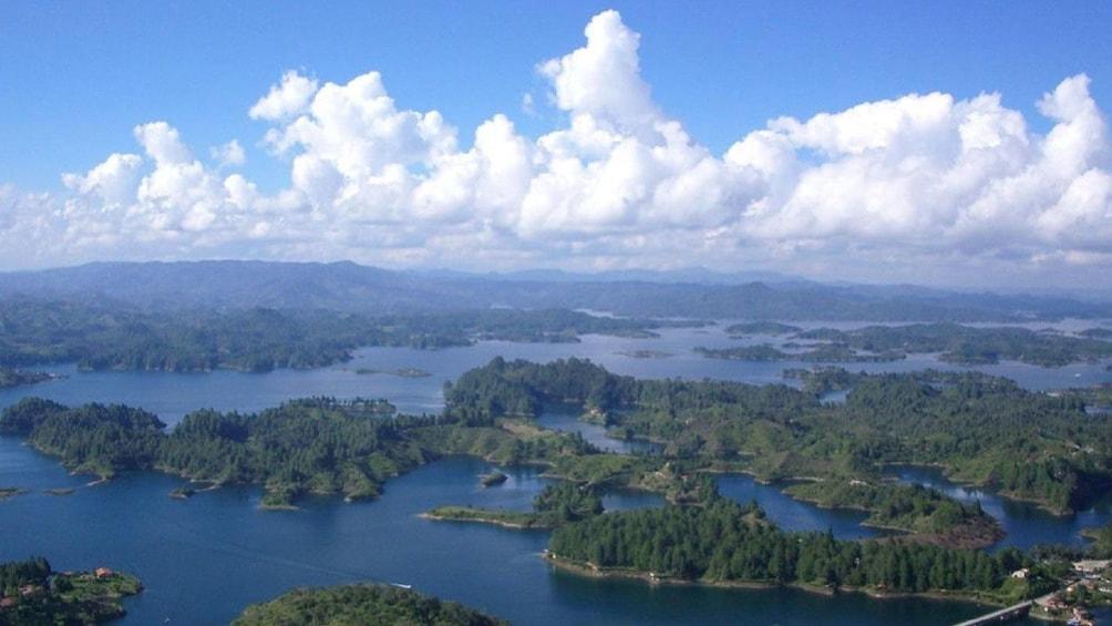 Show item 5 of 5. Aerial view of Penol and Guatape