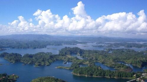 Aerial view of Penol and Guatape