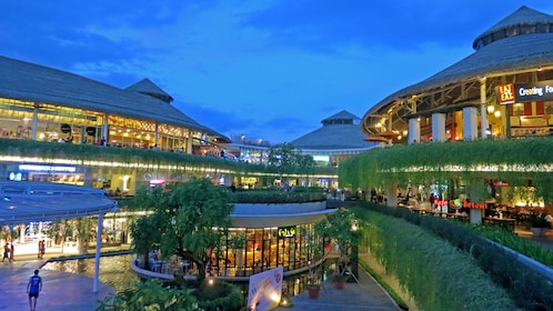 visiting an outdoor shopping center in Bali