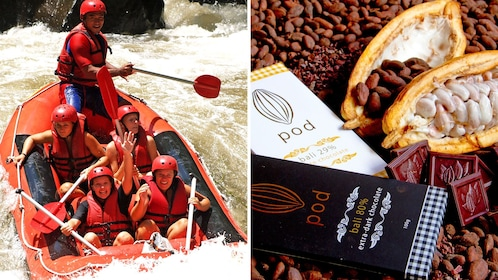 Combo image of Rafting excursion & Chocolate factory