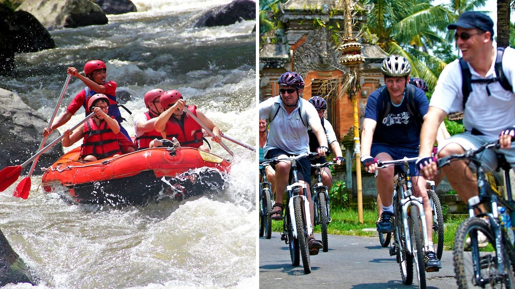 Show item 1 of 7. Rafting and bicycle combo image in Bali