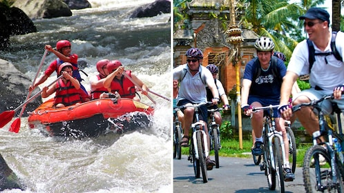 Rafting and bicycle combo image in Bali
