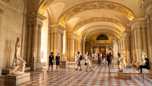 Inside the Louvre Museum in Paris
