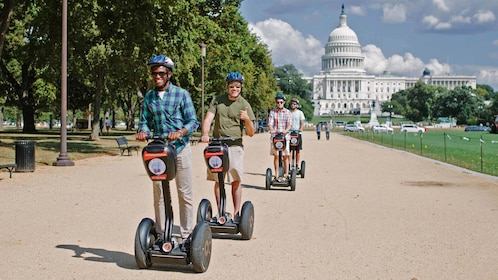 Segway group riding on path in Washington DC