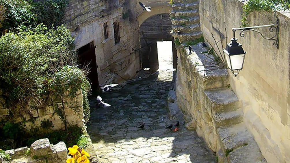 Charger l'élément 2 sur 6. walking down an old cobble stone path in Provence