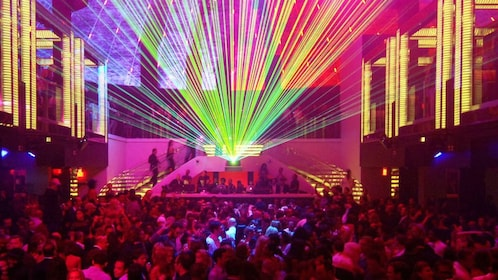 inside of dance club in Miami