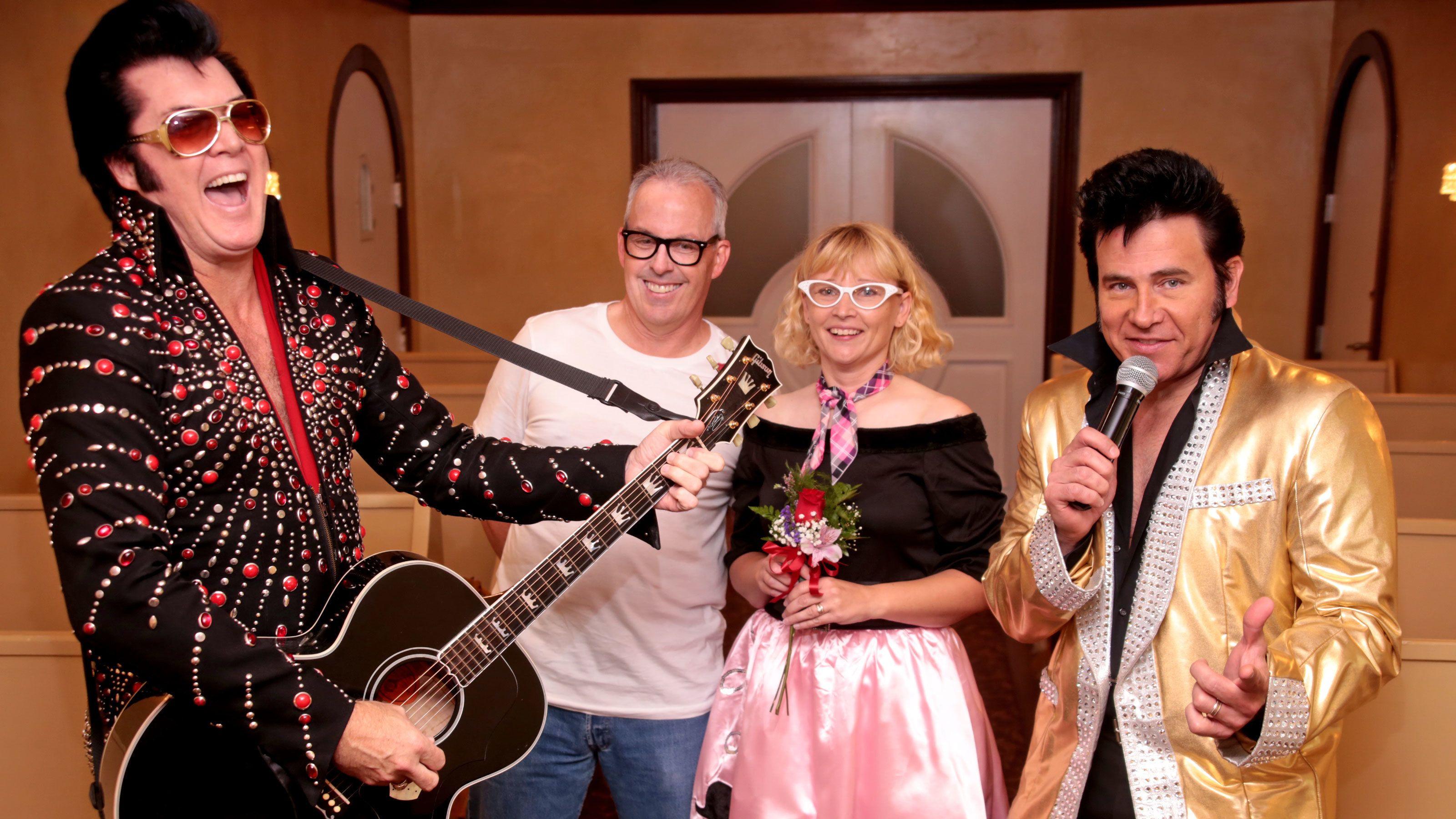 Dueling Elvis Wedding or Renewal at Graceland Wedding Chapel