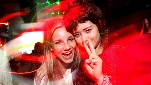 girls enjoying the night at a pub in London