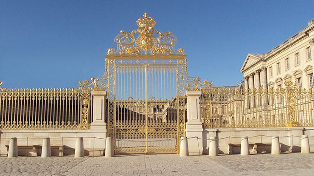 Show item 1 of 6. Close view of the gate to the Versailles in Paris