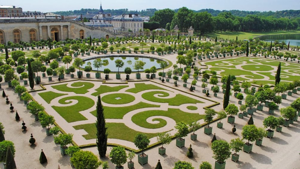 Show item 2 of 6. a palace garden in Versailles