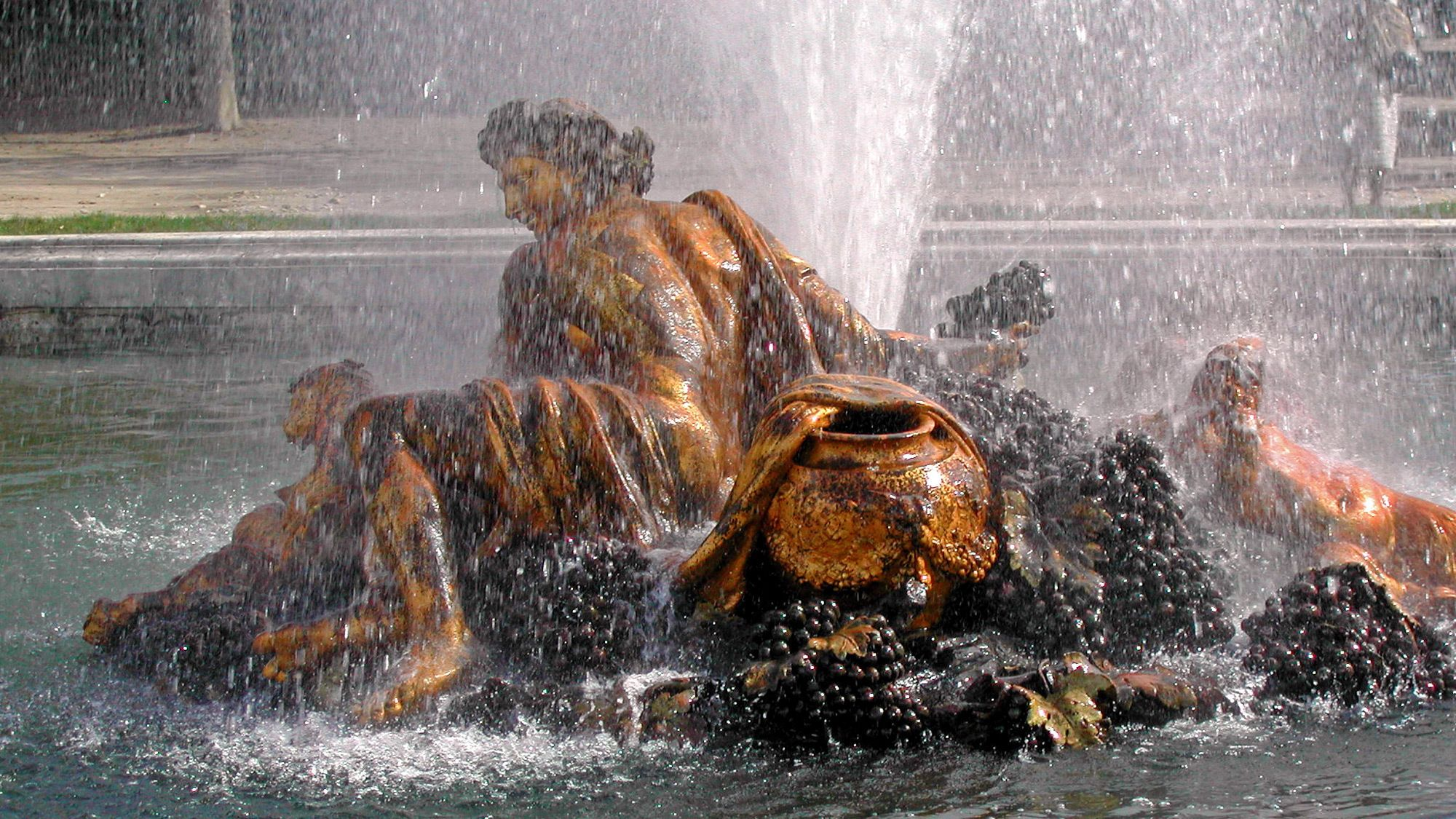 fountain sculpture at the palace in Paris