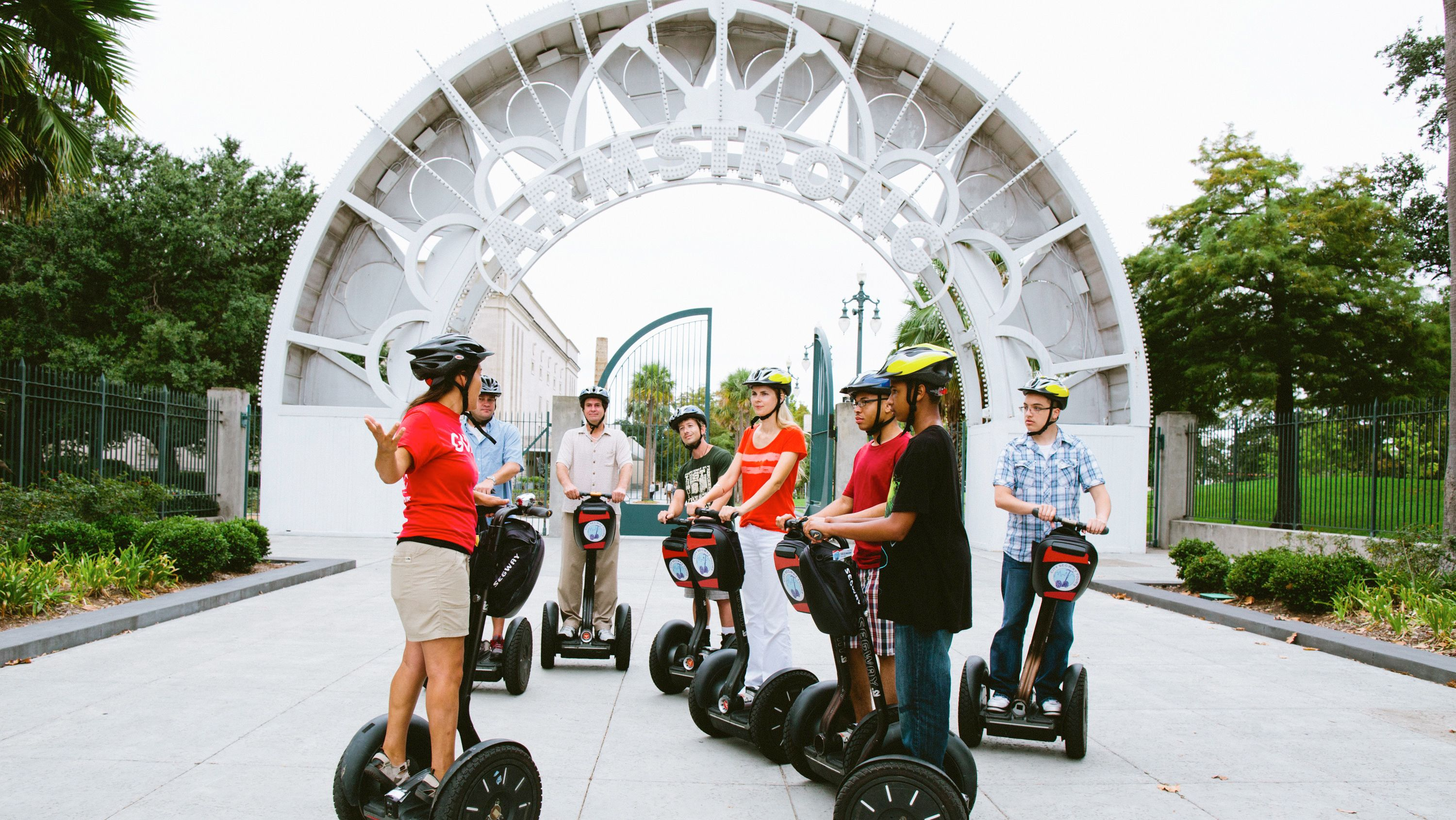 Group on segway tour of New Orleans