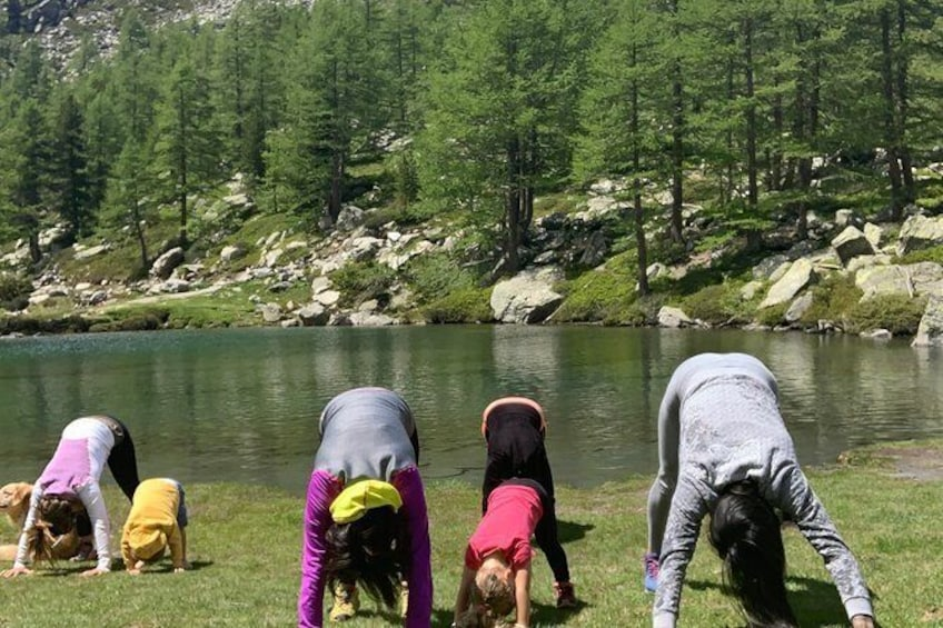 Show item 2 of 4. Yoga classes at the foot of Mont Blanc