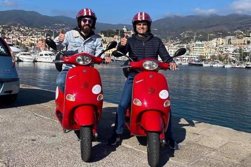Show item 5 of 9. Half day Vespa rental in Sanremo