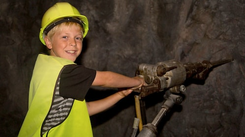 Boy at the Gold Discovery Centre in Waikato