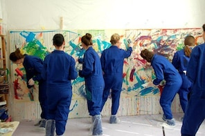 Private action painting event in Lübeck