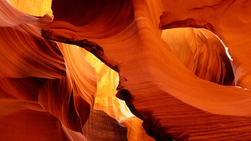 Rock formations and arches inside Antelope Canyon in Arizona
